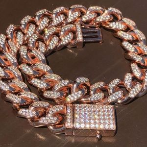 Harlembling Men's Miami Cuban Link Bracelet